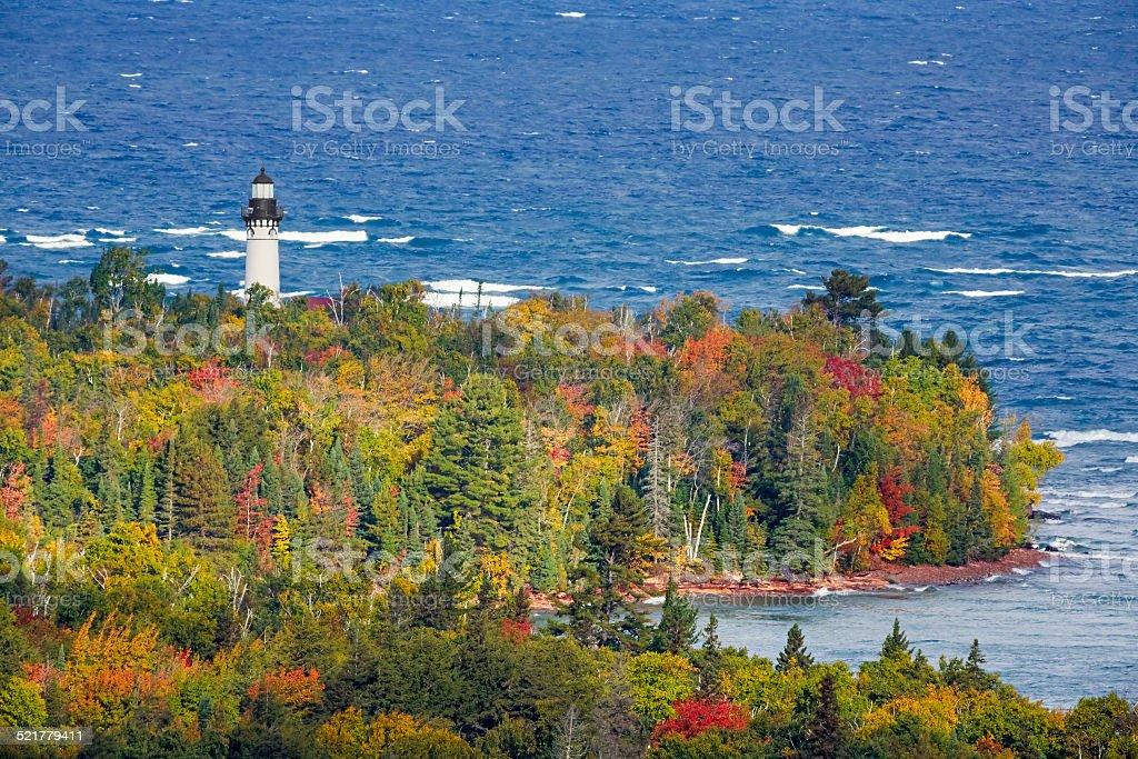 Au Sable Light in Autumn stock photo