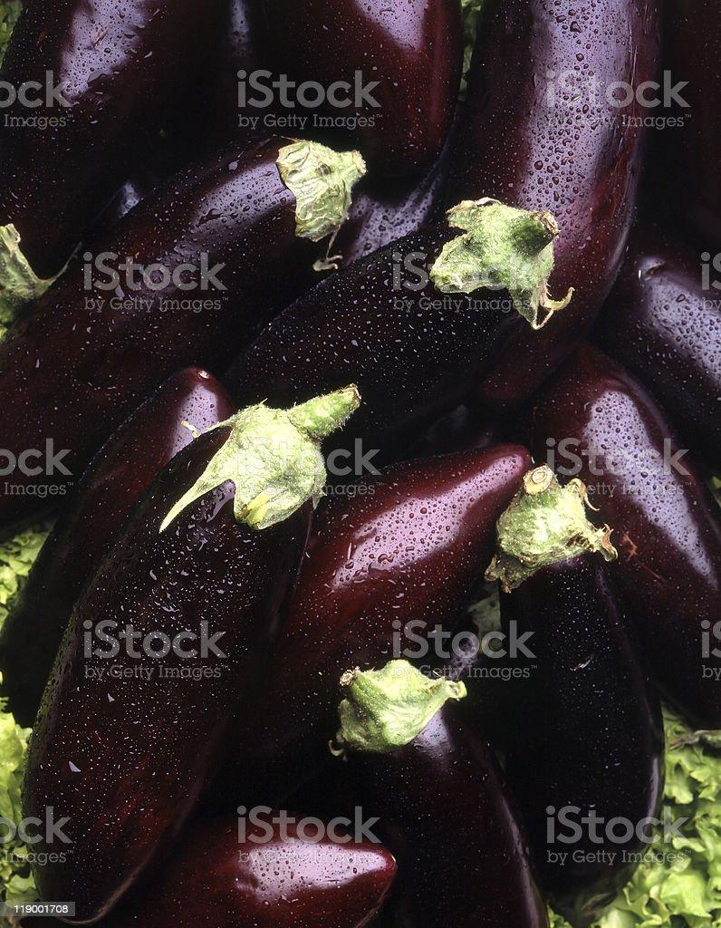 Aubergines royalty-free stock photo