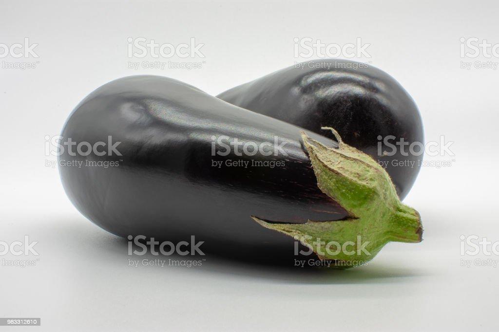 aubergines stock photo