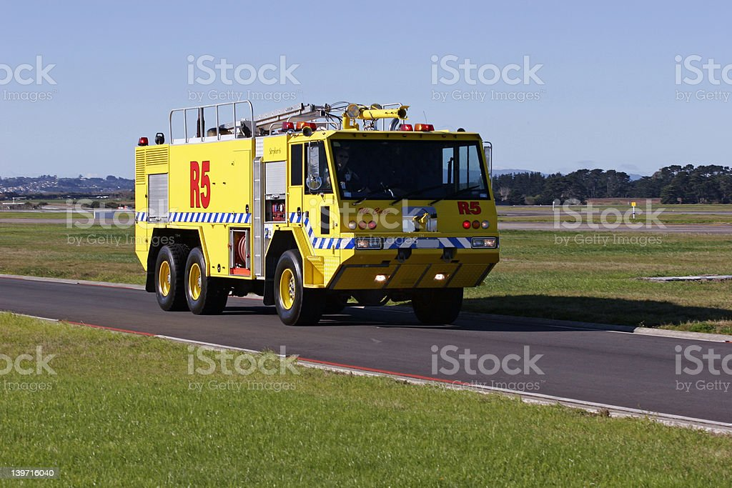 Auckland Airport Fire Truck stock photo