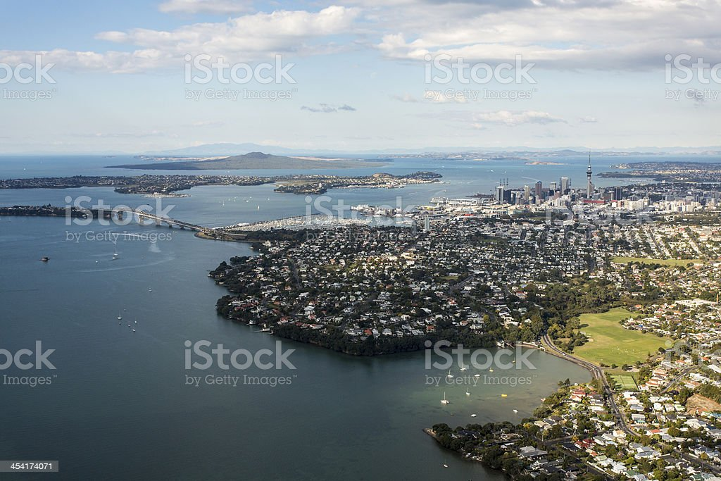 Auckland and Hauraki Gulf stock photo