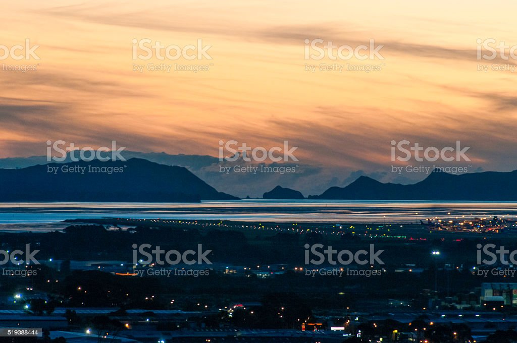 Auckland at dawn stock photo