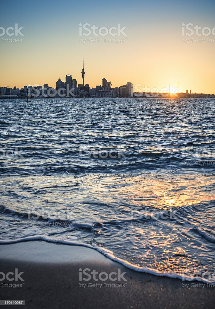 Auckland at Sunset stock photo