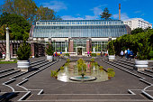 istock Auckland botanical garden exterior view in a spring sunny day, in Auckland Domain, a big park in the city, New Zealand 1244399875