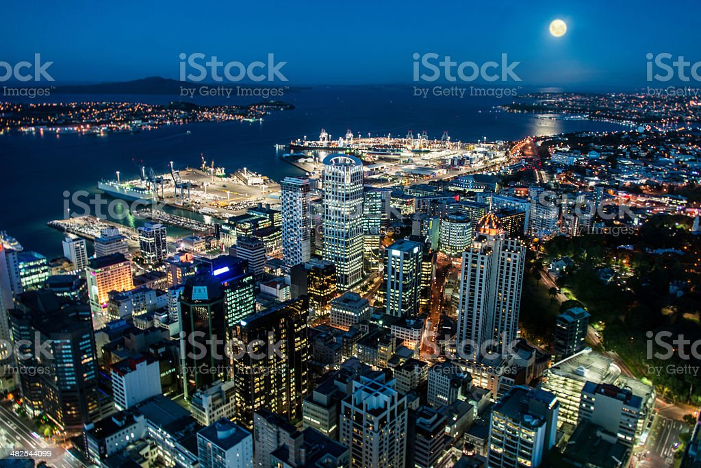 Auckland business district stock photo
