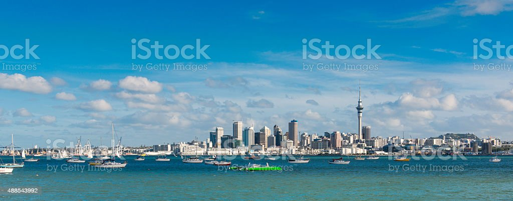 Auckland CDB stock photo