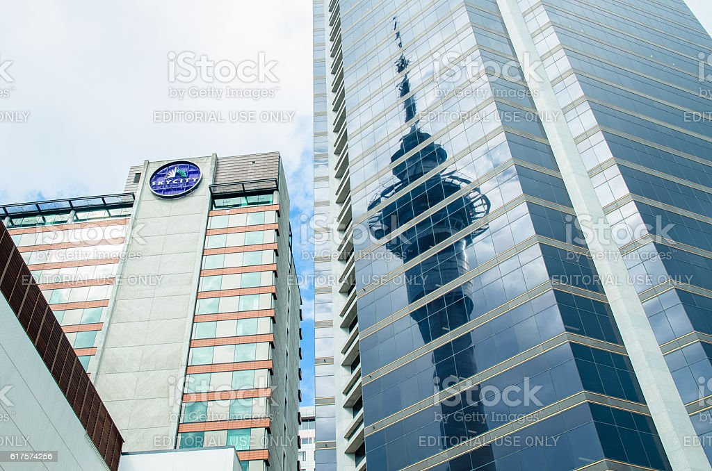 Auckland city in New Zealand. stock photo