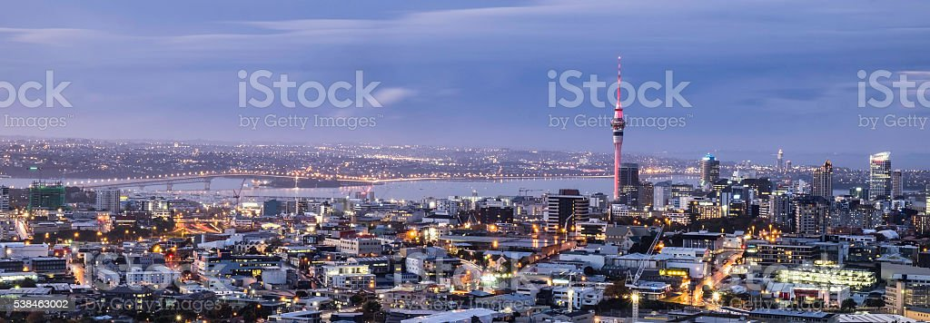 Auckland City Lights stock photo