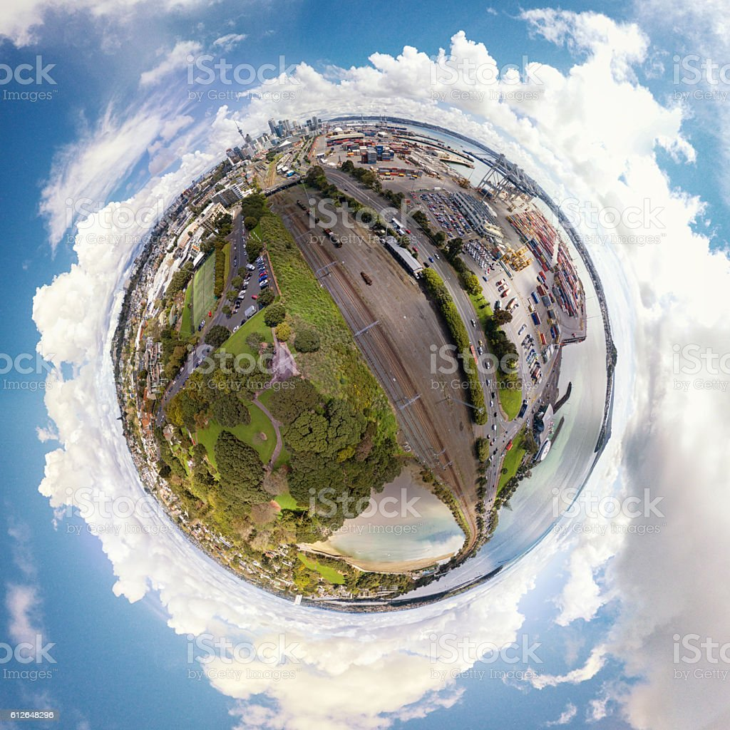 Auckland City Little Planet stock photo