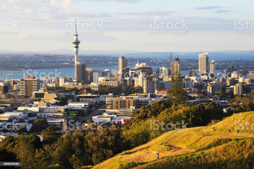Auckland City New Zealand stock photo