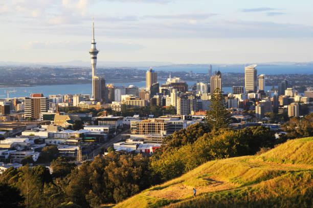 Auckland City New Zealand stock photo