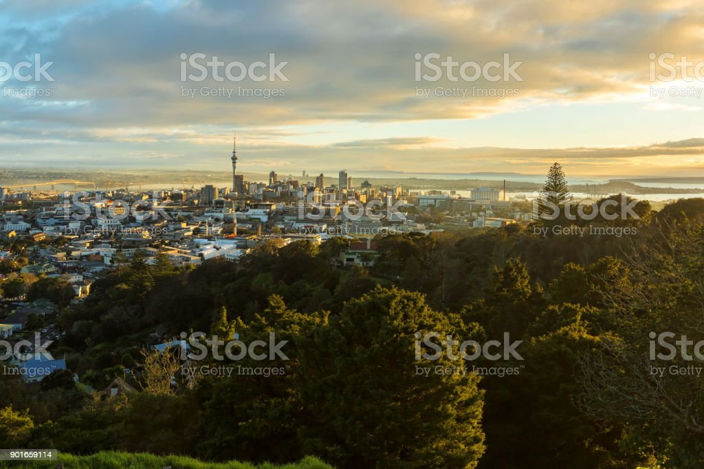 Auckland city, New Zealand stock photo