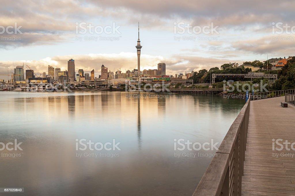 Cidade de Auckland  - foto de acervo