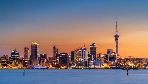 Auckland City stock photo