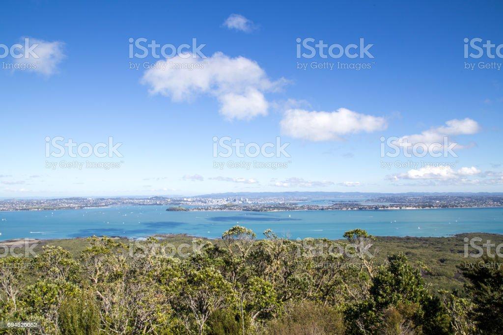 Auckland city skyline stock photo