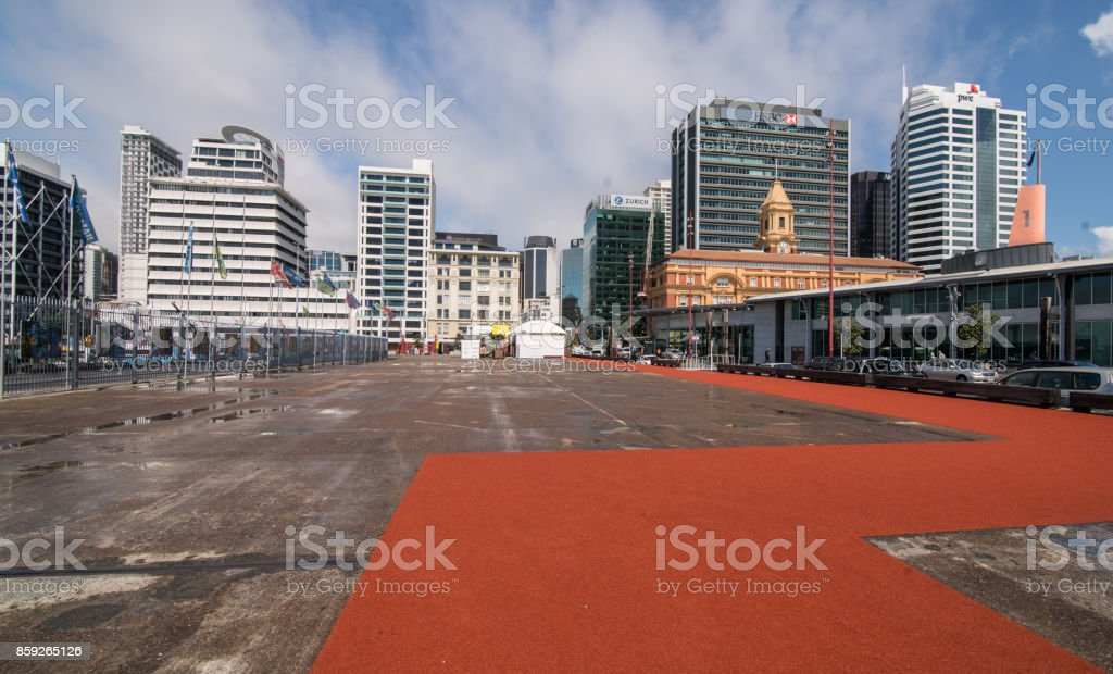 Auckland City View From Harbour. stock photo