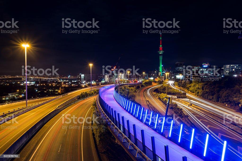 Auckland City - Xmas time stock photo