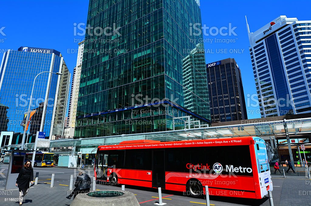 Auckland CityLink bus in Auckland New Zealand stock photo