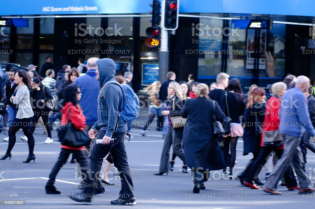 Auckland Cityscape - Queen Street stock photo