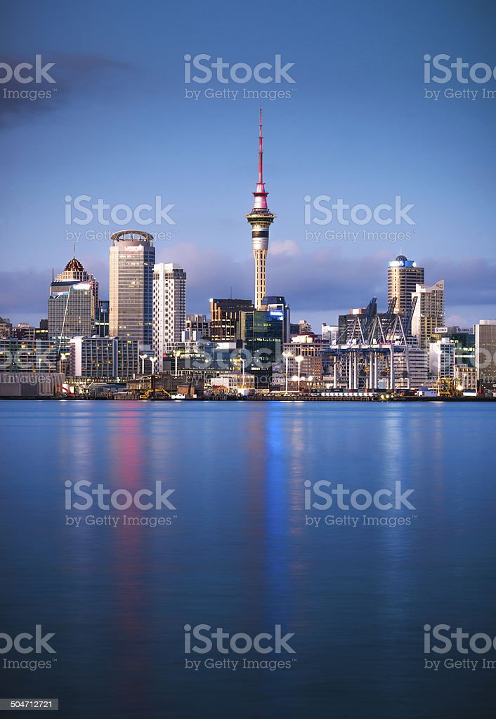 Auckland Dawn stock photo