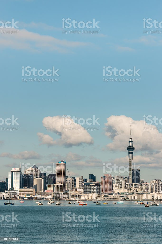 Auckland downtown on sunny day stock photo