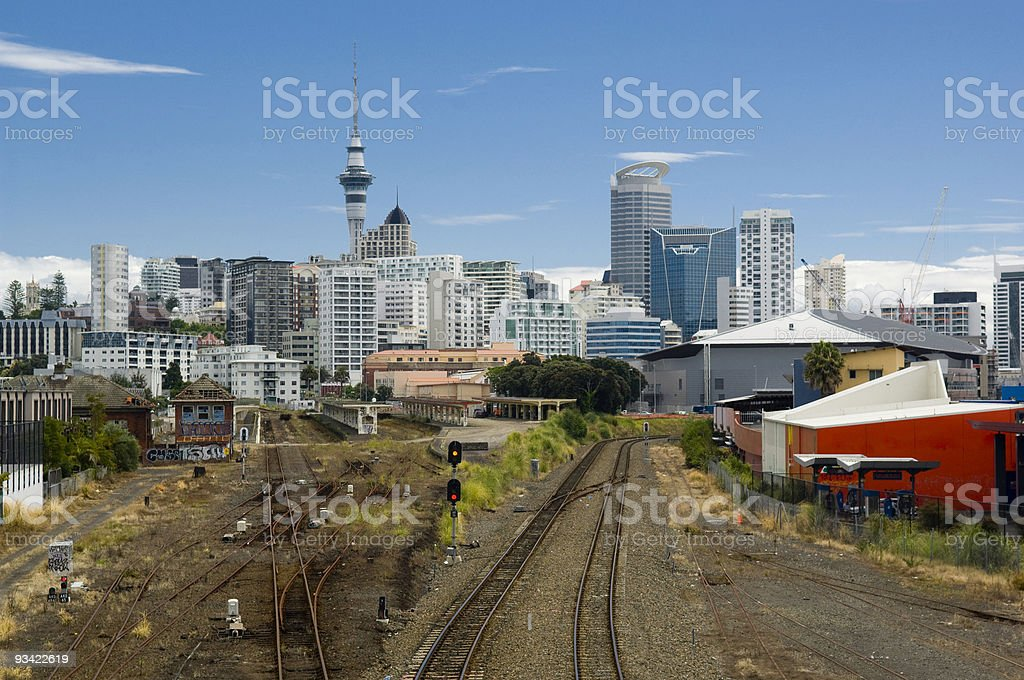 Auckland Downtown Skyline royalty-free stock photo