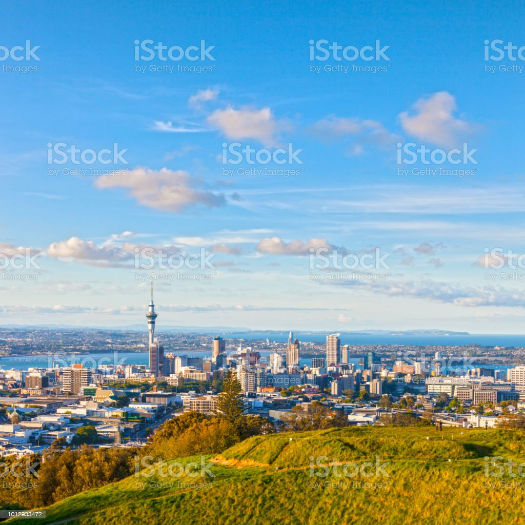 Auckland from Mount Eden stock photo