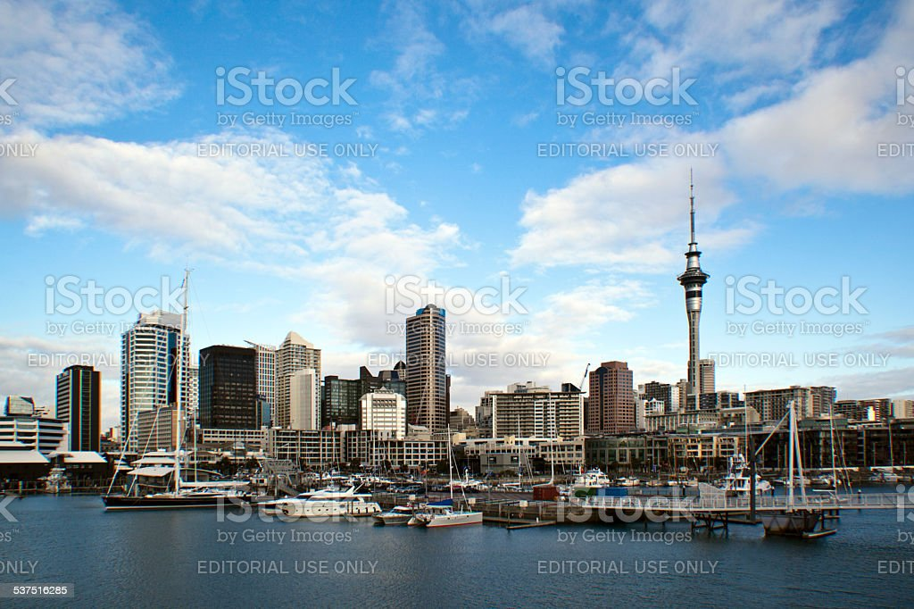 Auckland from the sea stock photo