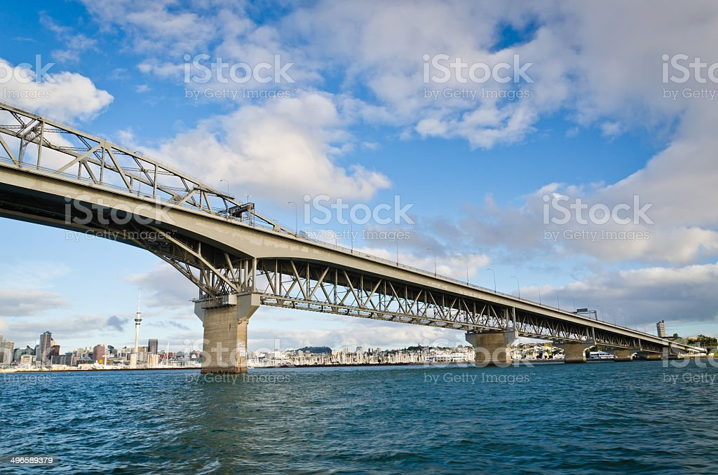 Auckland Harbor Bridge stock photo
