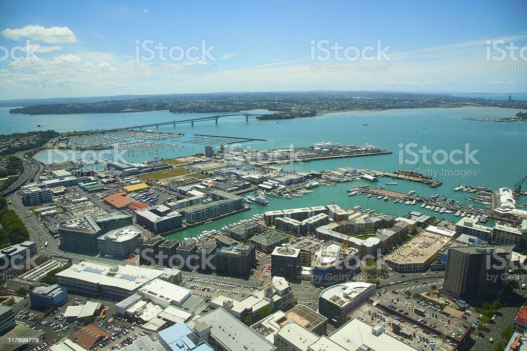 Auckland harbor royalty-free stock photo