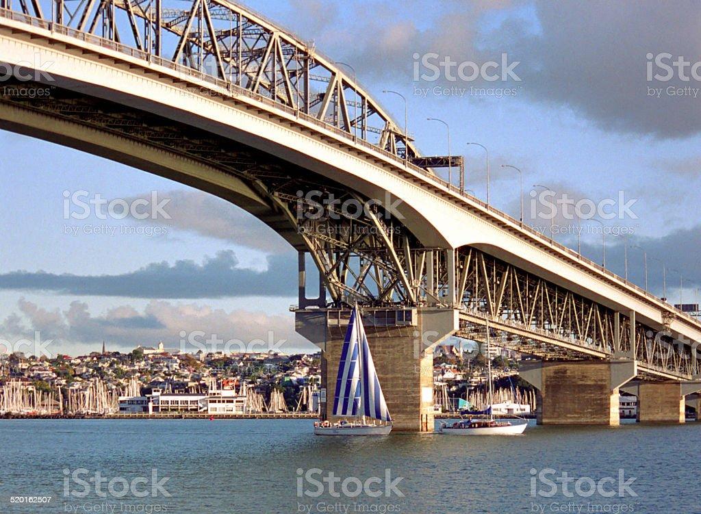 Auckland Harbour Bridge New Zealand stock photo