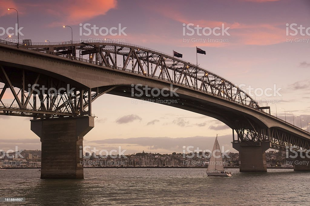 Auckland Harbour Bridge stock photo