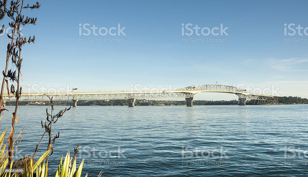 Auckland Harbour Bridge. stock photo