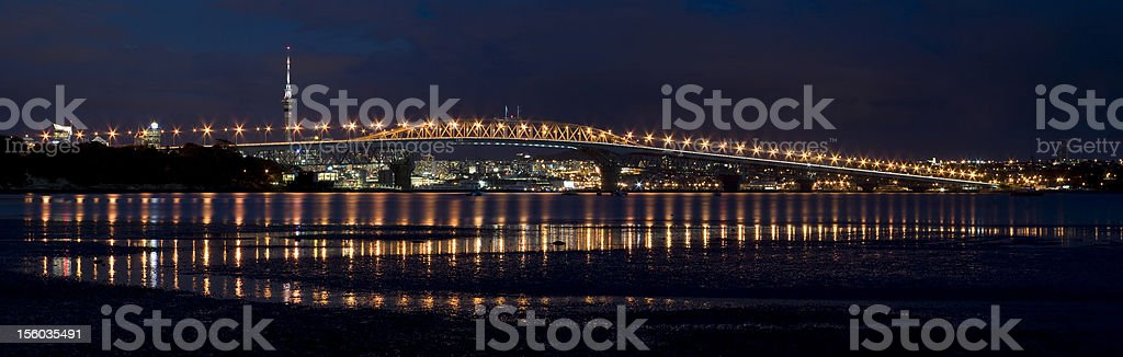 Auckland Harbour Bridge Reflections stock photo