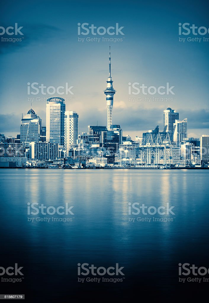 Auckland in monochrome stock photo