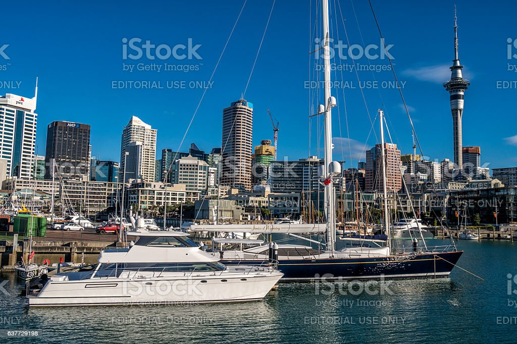 Auckland in New Zealand stock photo