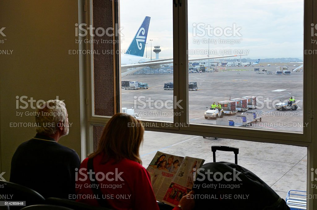 Auckland International Airport stock photo