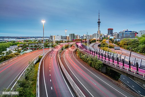 istock Auckland Light Path Bicycle Lane Highway Traffic New Zealand 638878600