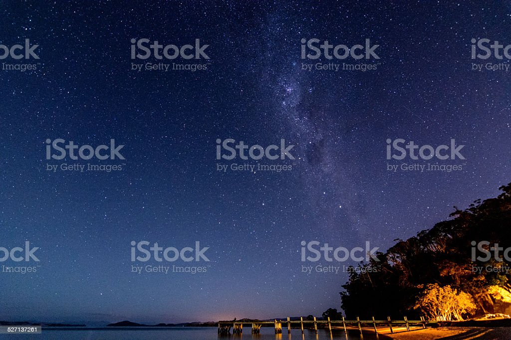 Auckland Milky Way stock photo
