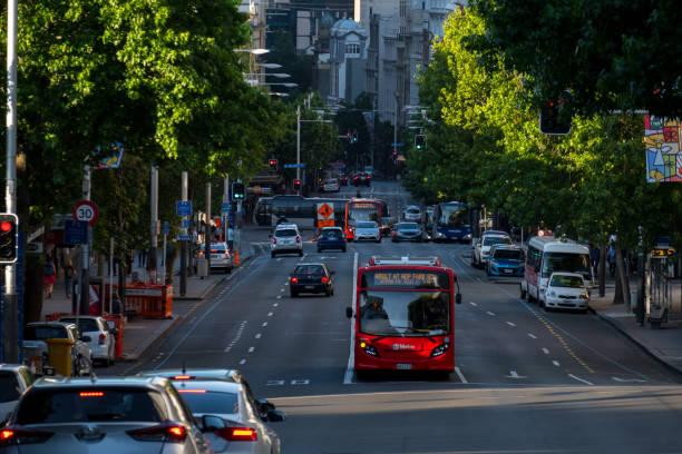 2017, Dez 4 - Auckland, NEW ZEALAND, Foto von der Verkehr und Gebäude in Auckland CBD – Foto