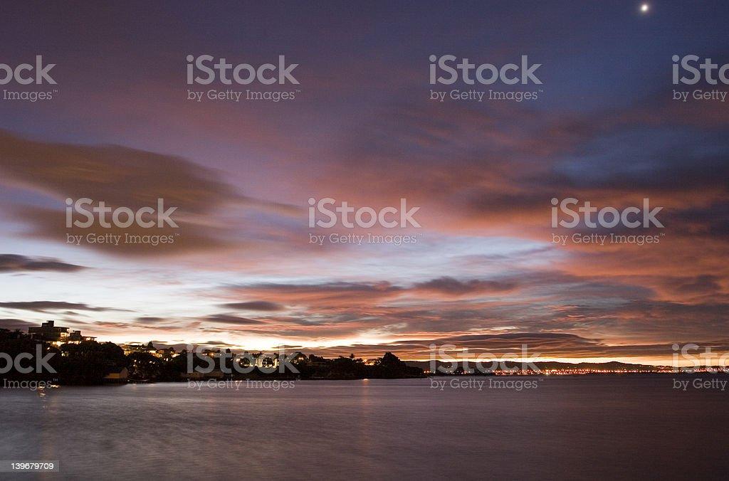 Auckland Night Sky royalty-free stock photo