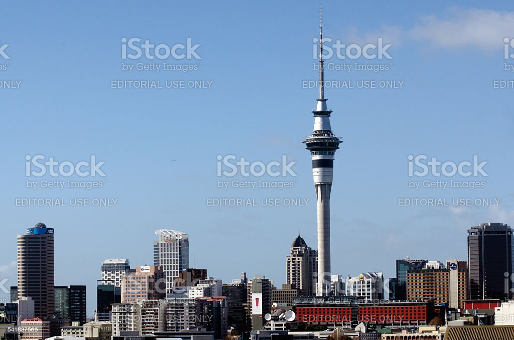Auckland Sky Tower stock photo