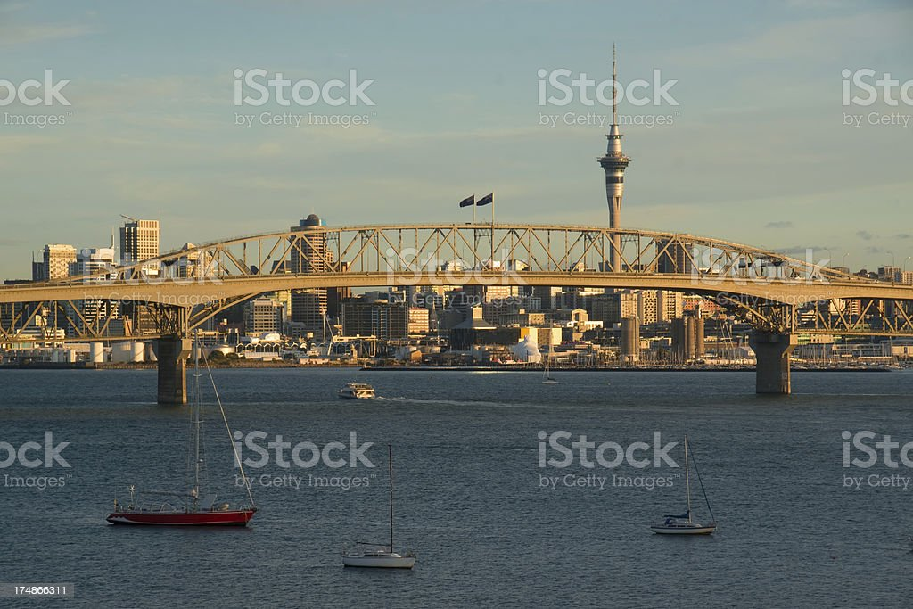 Auckland Skyline - Birkenhead stock photo