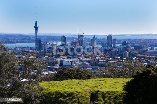 This is a picture from Mt.Eden known as a non-active volcano in Auckland, North Island, New Zealand.