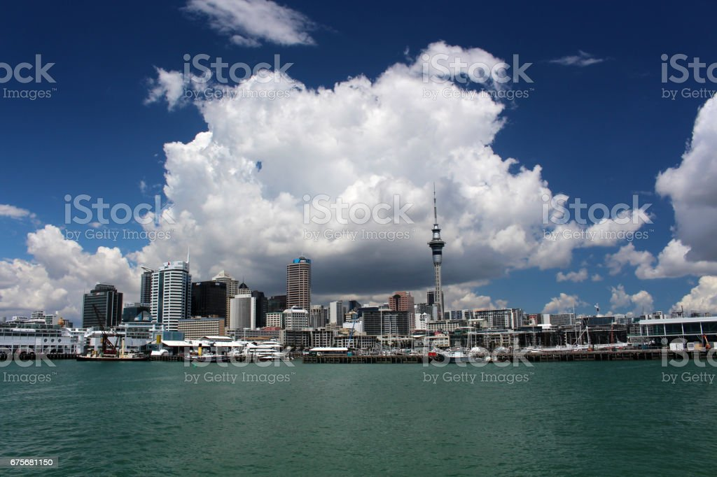 Auckland skyline royalty-free stock photo