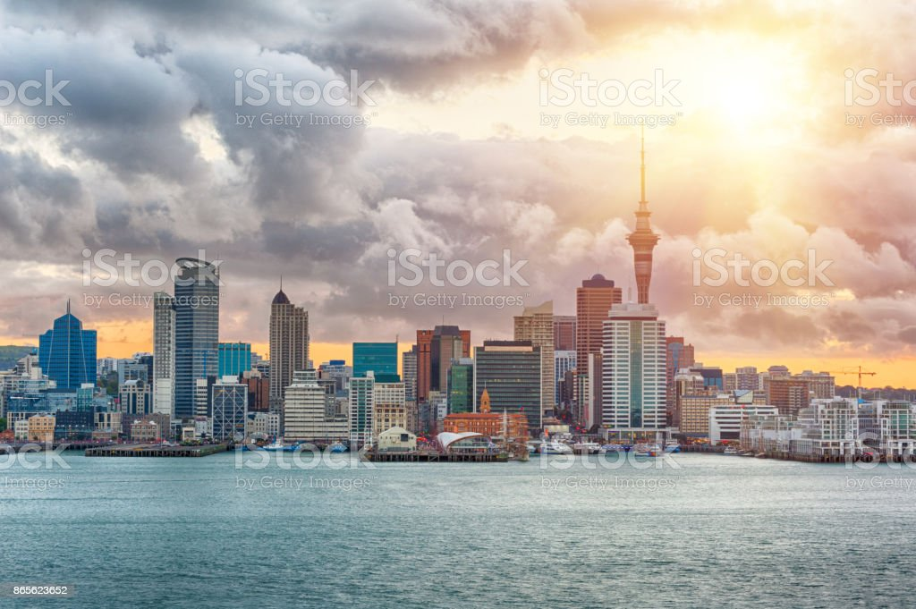 Auckland skyline stock photo