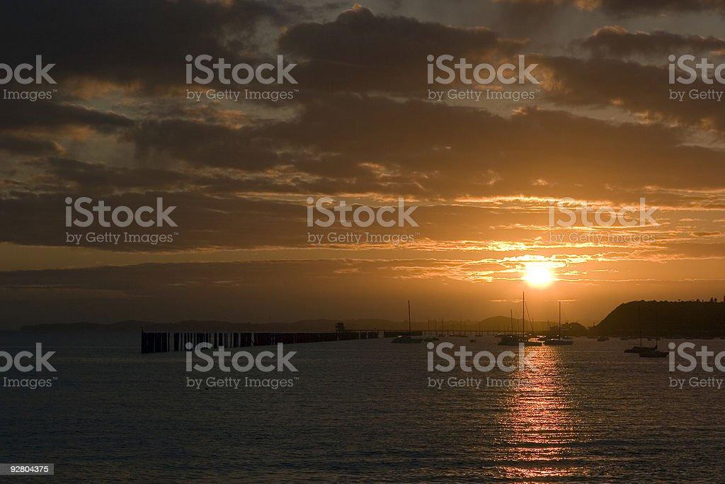 Auckland Sunrise royalty-free stock photo