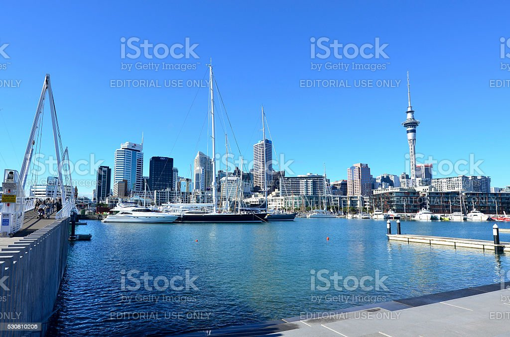 Auckland Viaduct Harbor Basin - New Zealand stock photo