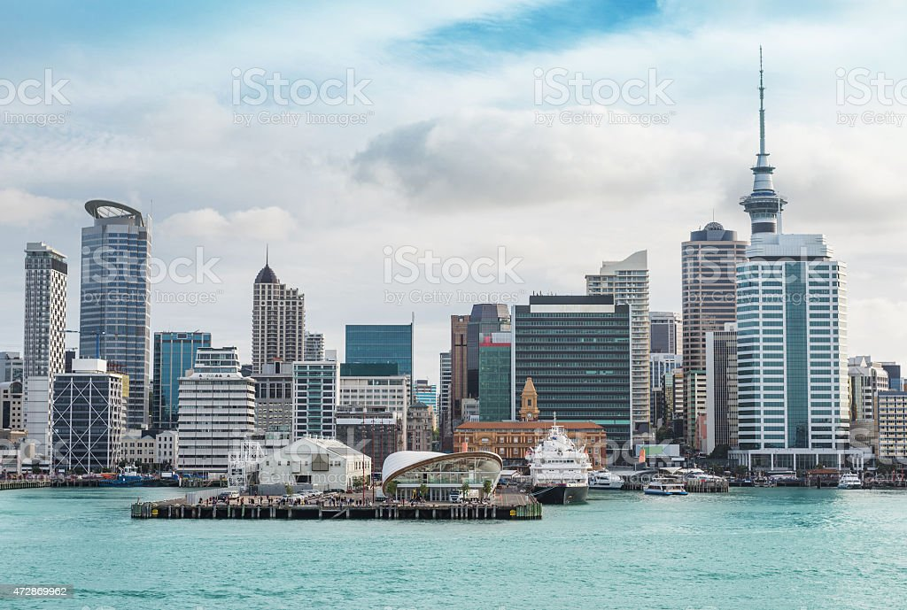Auckland view at the noon stock photo