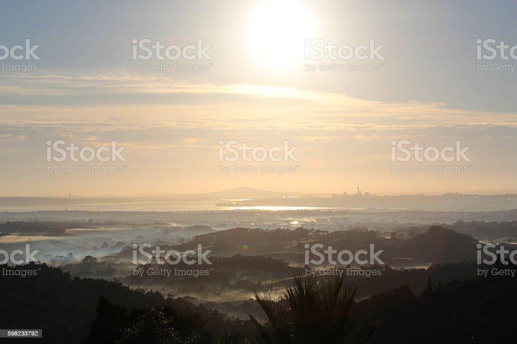 Auckland Waitakere Ranges Sunrise foto royalty-free